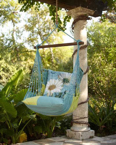 Meadow Mist Striped Swing Chair