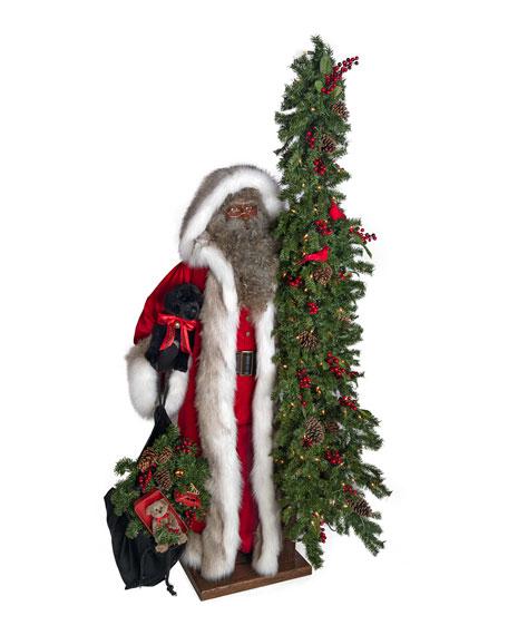 """Christmas Magic African American Santa, 57"""""""