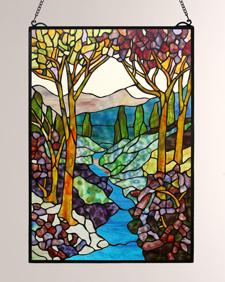 Tiffany Landscape Window Panel