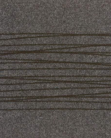 "Burnished Quartz Charcoal Decorative Pillow, 12"" x 16"""