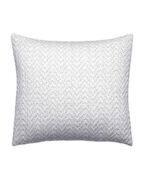 "Ink Botanical Zigzag Decorative Pillow, 12"" x 16"""