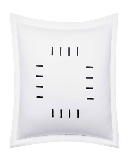 "Zigzag White Decorative Pillow, 18"""