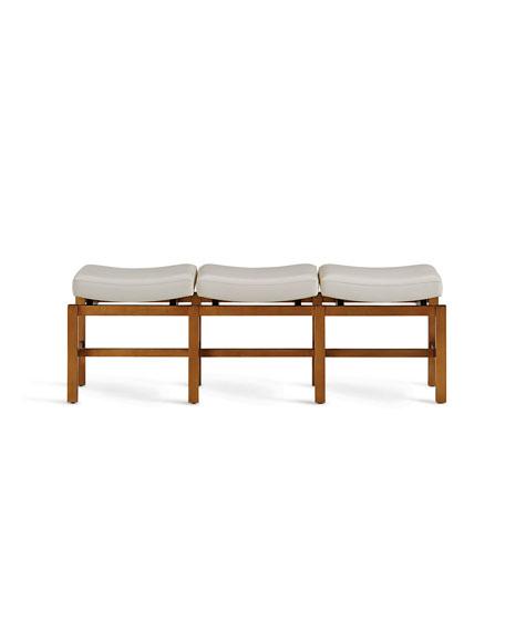 Primm Three Seat Leather Bench