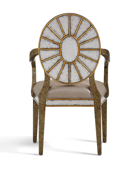 Eglomise Dining Arm Chair