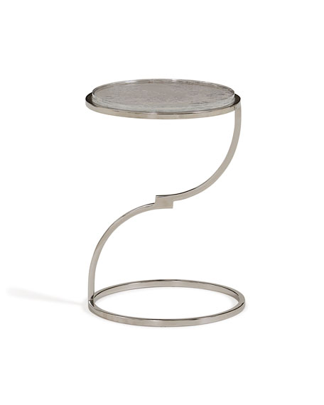 Polished Silver Accent Table