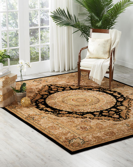 NourCouture Medallion Hand-Tufted Rug, 10' x 14'