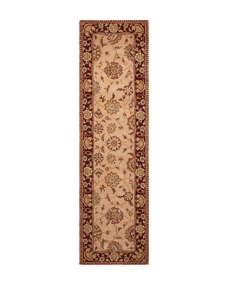 "Colonial Hand-Tufted Runner, 2'6"" x 12'"