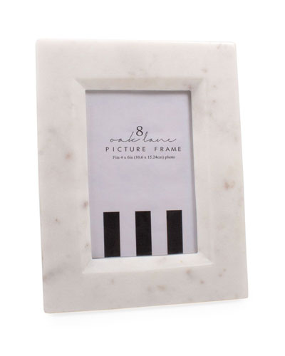 White Marble Picture Frame  4 x 6