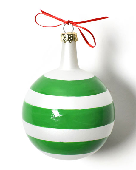 Christmas Spirits Merry Vintage Glass Ornament