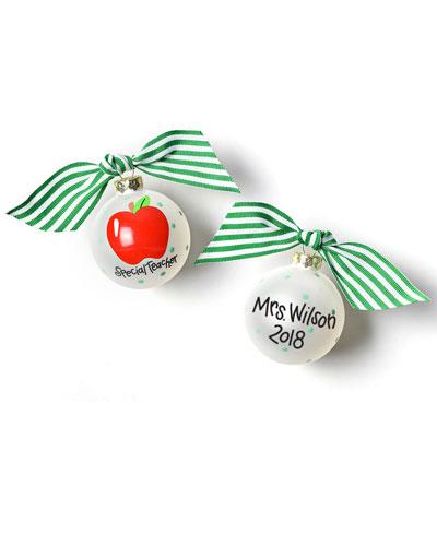 Special Teacher Glass Ornament