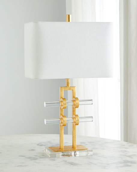Global Views Acrylic Rod Table Lamp