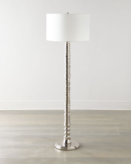 Global Views Aluminum Floor Lamp