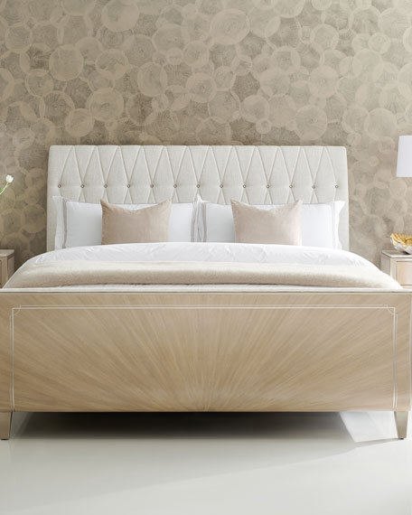 Diamond Jubilee Tufted Queen Bed