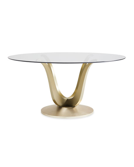 Rounding Up Glass Top Dining Table