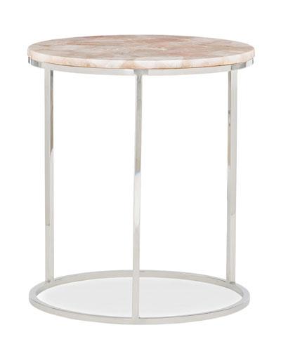 Rosie Quartz Accent Table