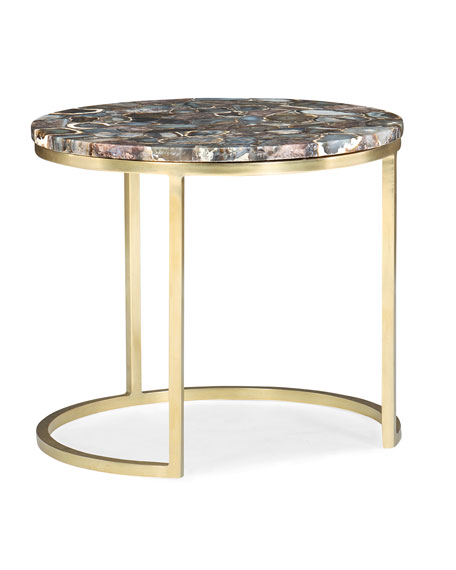 Moonbeam Agate Top Accent Table
