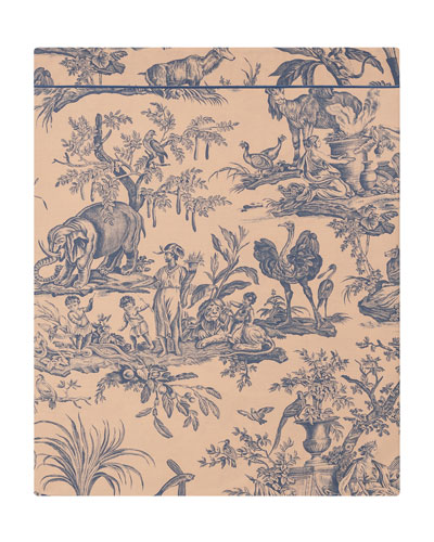 Quatre Continents Full/Queen Flat Sheet