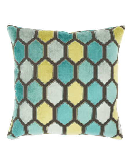 "Mallorca Laguna Pillow, 24""Sq."