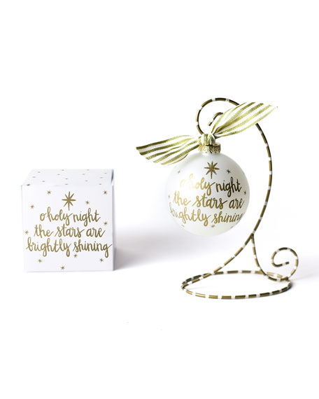 Stars Are Brightly Shining Glass Ornament with Stand