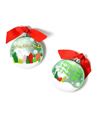 Happy Christmas To All Glass Ornament with Stand