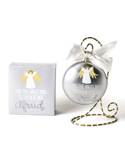 The Birth of Christ Luke 2:10 Glass Ornament with Stand