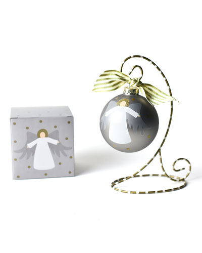 Forever In Our Hearts Angel Glass Ornament with Stand