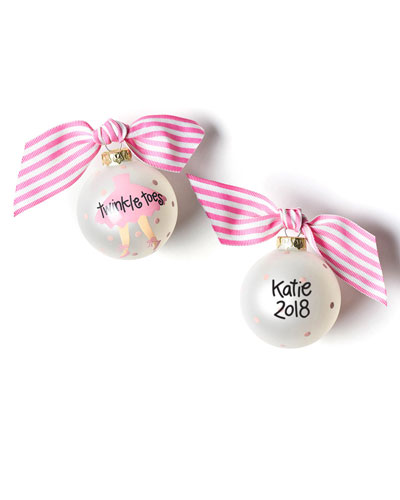 Personalized Twinkle Toes Ballet Ornament