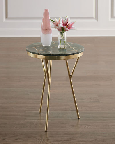Granger Marble & Brass Accent Table