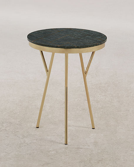 Godley Marble & Brass Accent Table