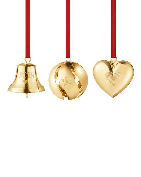 Heart Bell Ball Ornament Gift Set