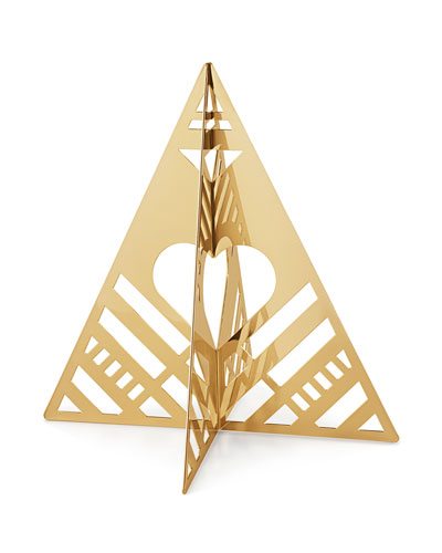 18K Gold Plate Small Table Tree