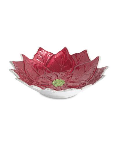 Poinsettia 9 Bowl
