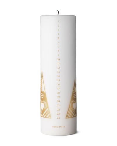Gold Calendar Candle