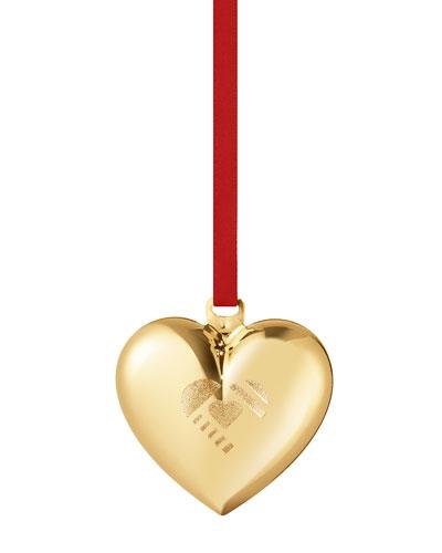 2019 Christmas Heart 18K Gold Plate Ornament
