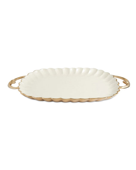 "Peony 22.5"" Rectangular Tray with Handles"