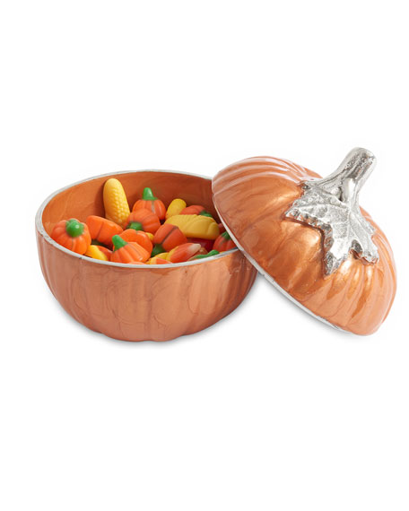 "Pumpkin 5"" Covered Bowl"
