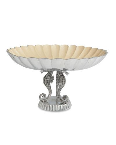 Sea Horse 14 Pedestal Bowl