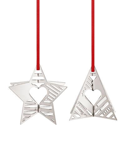 Palladium Star & Tree Holiday Ornaments