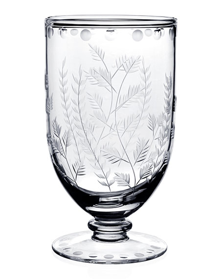 "Fern Footed 7"" Vase"