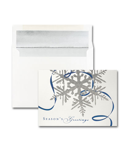 25 Seasonal Sparkle Greeting Cards with Blank Envelopes