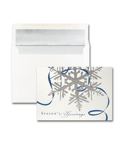 25 Seasonal Sparkle Greeting Cards with Printed Envelopes