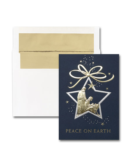 25 Star of Peace Greeting Cards with Printed Envelopes