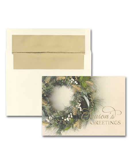25 Gorgeous Greenery Greeting Cards with Blank Envelopes
