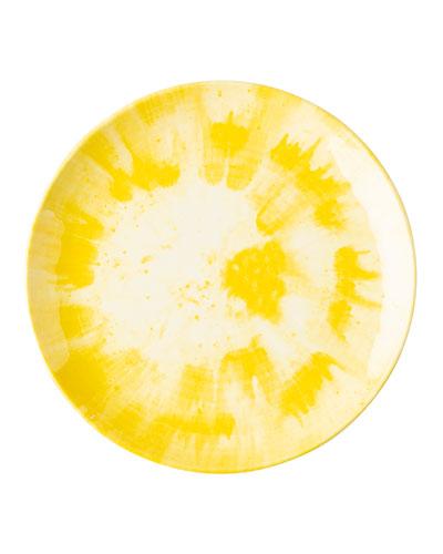 Spin Platter Yellow Melamine Dinner Plate
