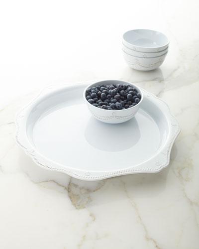 17 Berry Thread Melamine Handled Platter
