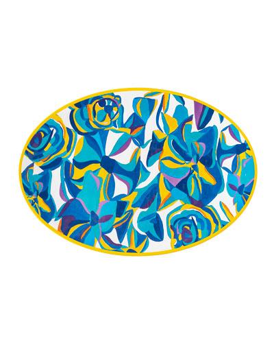 Jan Erica Rose Melamine Serving Platter