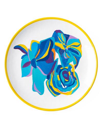 Jan Erica Rose Melamine Dessert/Salad Plate