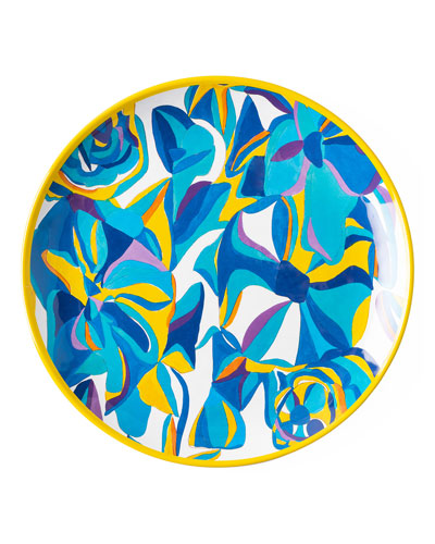 Jan Erica Rose Melamine Dinner Plate