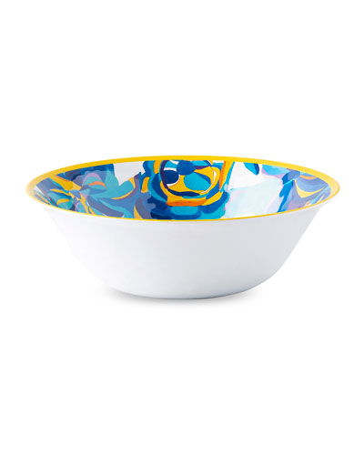 Jan Erica Rose Melamine Serving Bowl