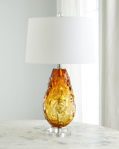 Art Glass Crystal Table Lamp